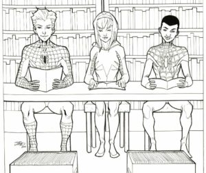 Comic Characters in Library